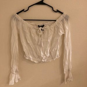 Forever 21 White Peasant Top